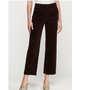 NWT Express High Waisted Cropped Corduroy Pant